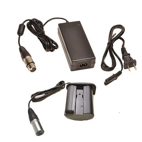 DRE19XAC - Canon LPE19 DRE19 Battery Coupler w/ 4-Pin Male XLR & PSA124