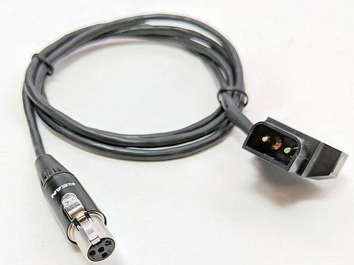 MINIXLRDTAPM - Mini 4 Pin XLR to Dtap Male