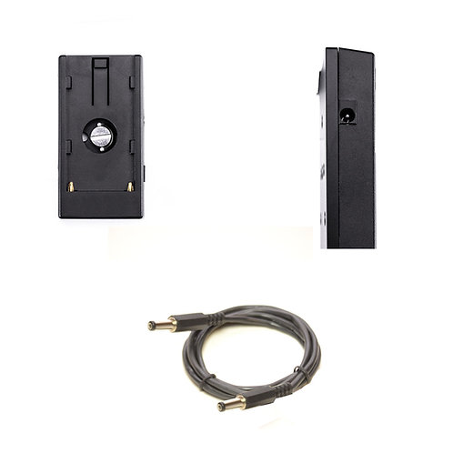 NPFPLATE21 - Battery Plate converts L Series NPF Battery to12v 2.1mm Male Output