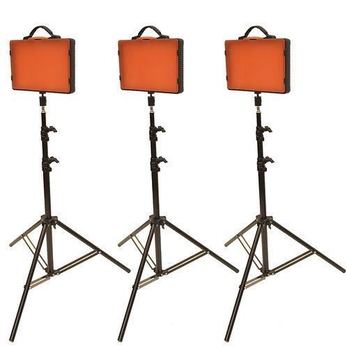 LED220T - Three Point 220 LED Bulb Studio Kit