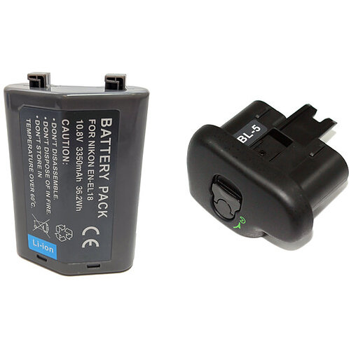 ENELE18CBL5 - Nikon style ENEL18C Battery & BL5 Cover Kit