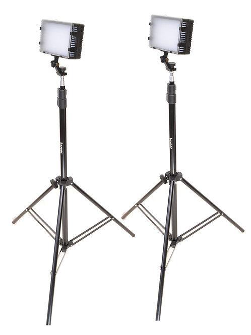 LED125K - Dual LED125, Light Stand & AC Adapter Kit