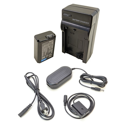 NPFW50PRO - Sony Style NPFW50 Battery, Charger, Coupler & AC Adapter Kit