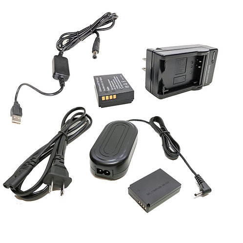 LPE12PRO5V - LPE10 Battery, AC Coupler & USB Adapter Kit