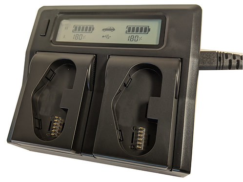 LPE19CHARGER -Dual Bay LCD Charger for LPE19 Batteries