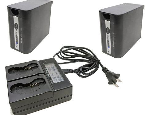 VBD98DBCK - Dual Battery & 1 Dual Bay Charger Kit