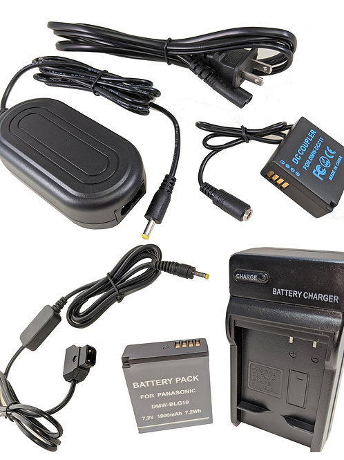 DMWBLG10PROD - Battery, AC Coupler & DTap Adapter Kit