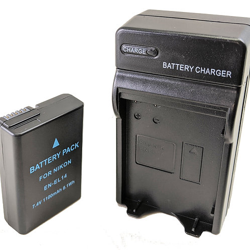 ENEL14B - Nikon Style ENEL14 Battery & Charger Kit