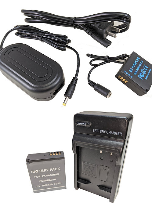 DMWBLG10PRO - Panasonic Style DMWBLG10 Battery, Charger, Coupler & AC Adapter