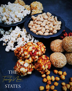 Our selection of Sesame Seed and Jaggery, Peanut and Jaggery, Puffed Rice and Jaggery and Roasted Chickpea and Jaggery Ladoo's (with a side of Salted Popcorn and Revdi)! 😍🤤
