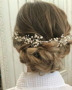 Jessica bridal hair back