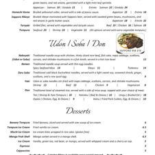 Entree Noodle & Dessert