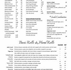Sushi & Basic Roll