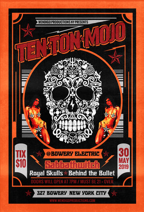 TEN TON MOJO Show flyer