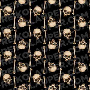 """Japanese Skull Stripe"" Fabric Pattern"