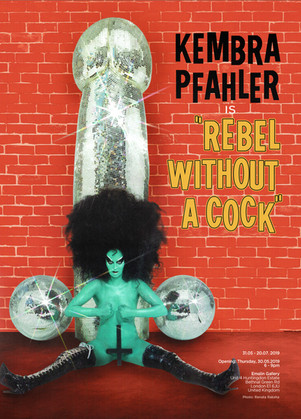"KEMBRA PFAHLER ""Rebel Without A Cock"" Poster"