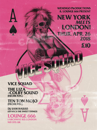 VICE SQUAD Show Flyer (Cancelled)