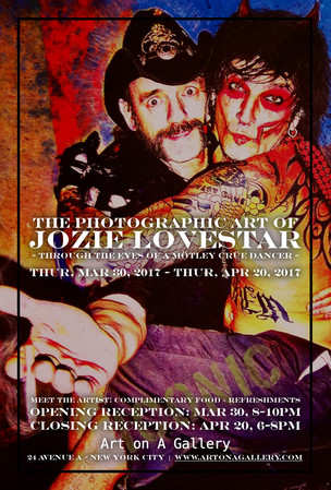 JOZIE LOVESTAR Photography Art Show Poster