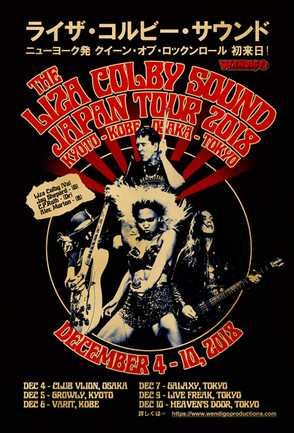 LIZA COLBY SOUND Japan tour poster