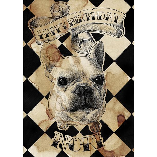 Custom Birthday Card (Pet Portrait), 2018