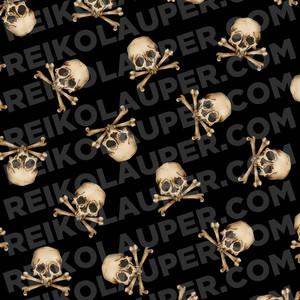 """Japanese Jolly Roger"" Fabric Pattern"