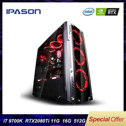 8-Core Intel 9th Gen I7 9700k IPASON P9 PLUS Gaming PC/512G SSD/DDR4