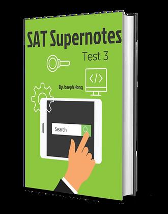 Test 3 SAT Super Notes