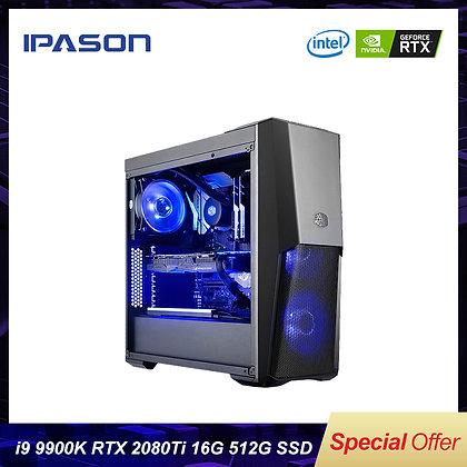 8-Core Intel 9th Gen I9 9900k Gaming PC IPASON Desktop Computer/512g SSD DDR4