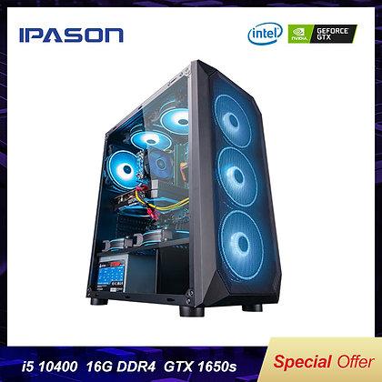 IPASON I5 9400F Upgrade 10400 / GTX1650 Super 10 Gen Desktop Computer PC GTA5