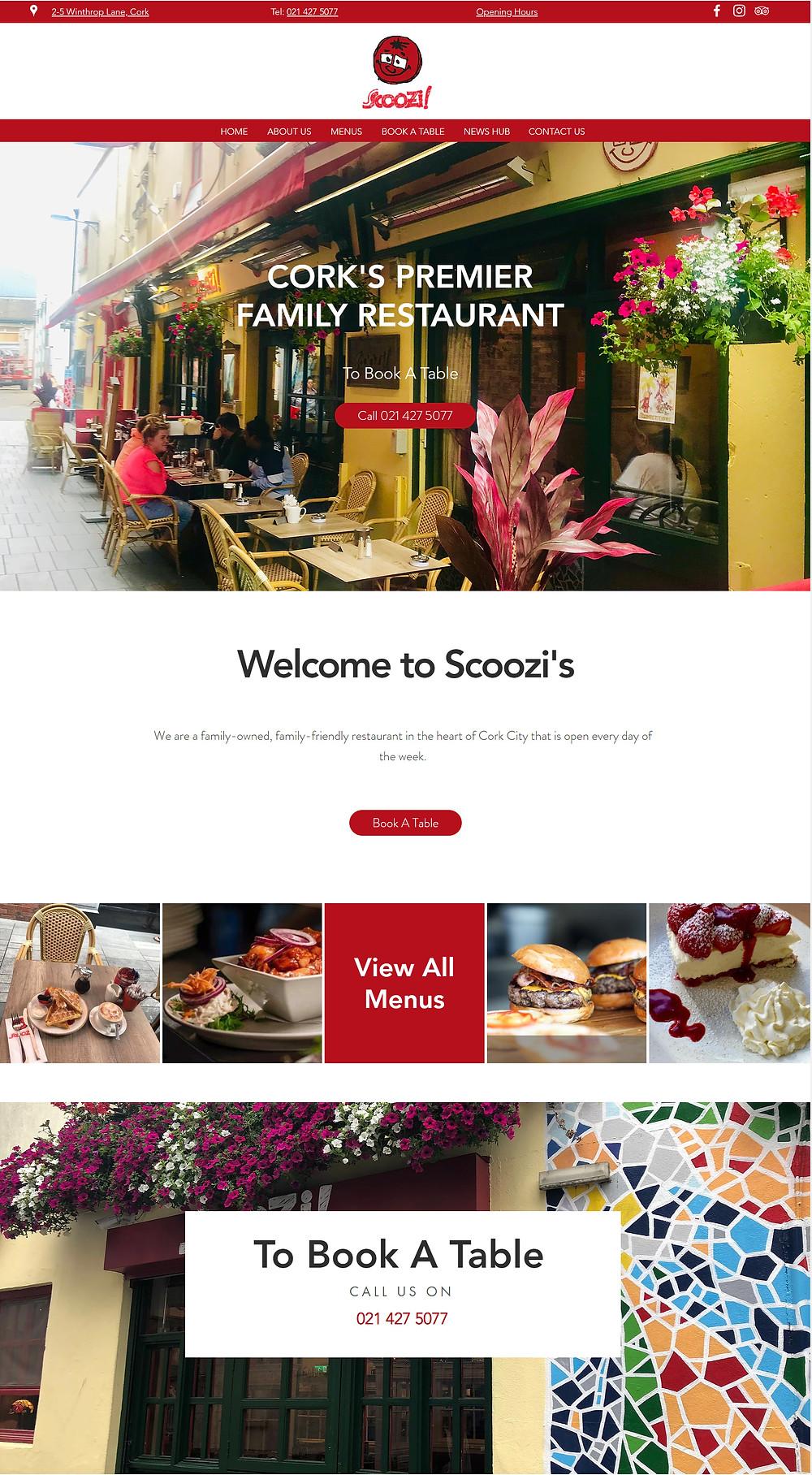 Scoozi restaurant in Cork