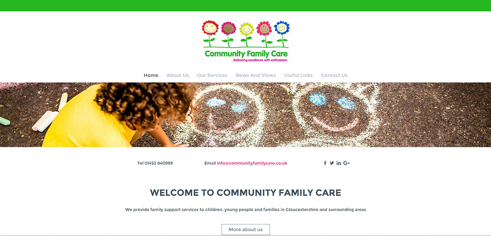 Community Family Care home page