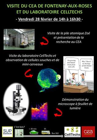 Visite du site de recherche CEA / Laboratoire CellTechs