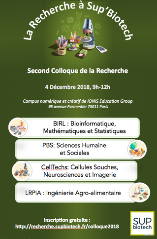 """Colloque 2018 """"La Recherche à Sup'Biotech"""""""
