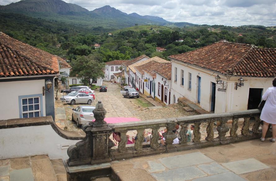 Vista da matriz em Tiradentes