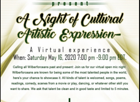 Cultural Artistic Expressions Virtual Wilberforce Fundraising Experience
