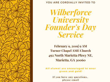 Join Us for Wilberforce University Founder's Day Service