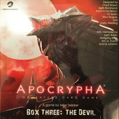 Apocrypha Adventure Card Game Box Three: The Devil