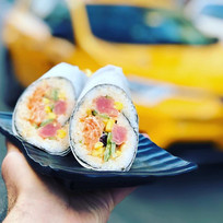 It's 2019, we're holding poké burritos i