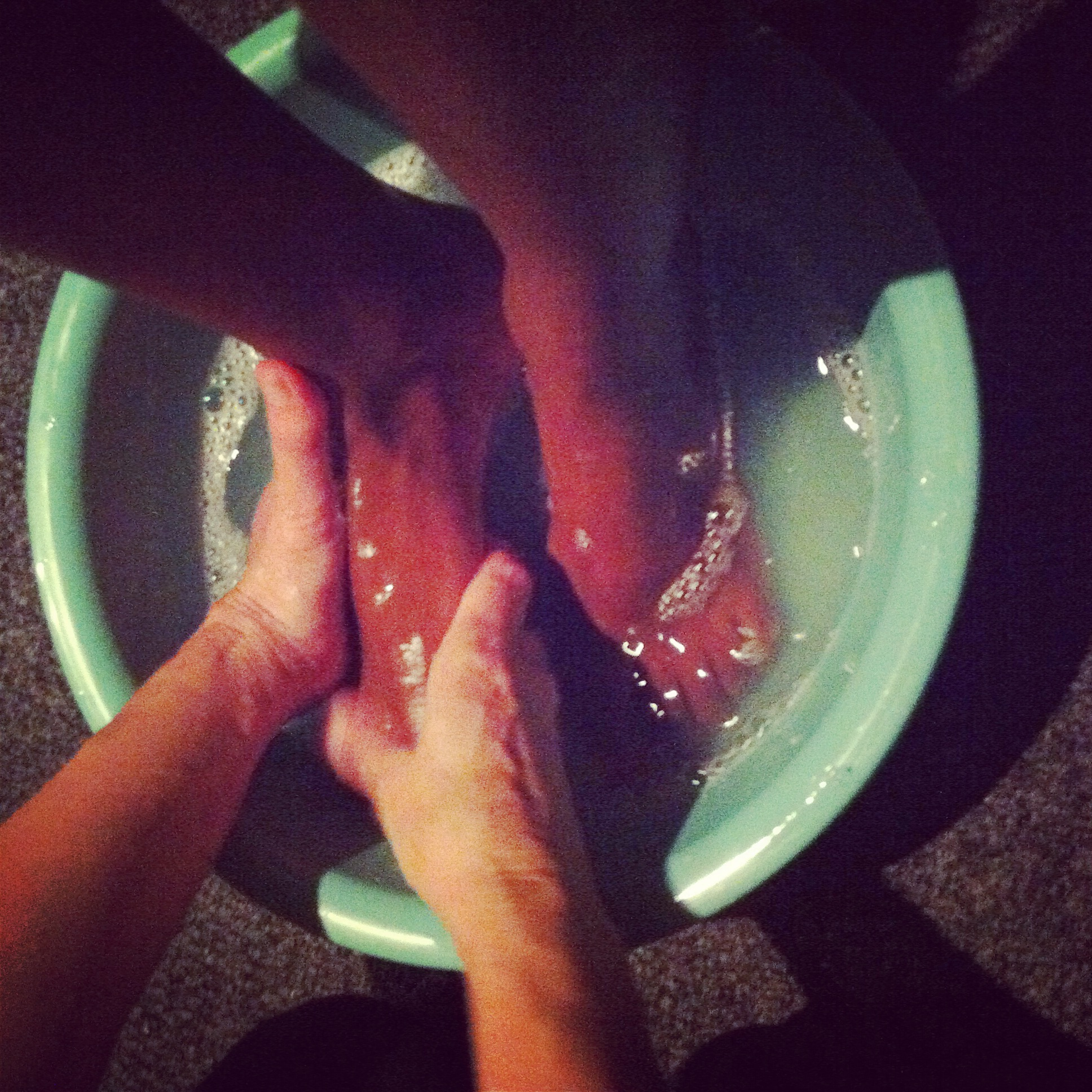 Washing the ladies feet