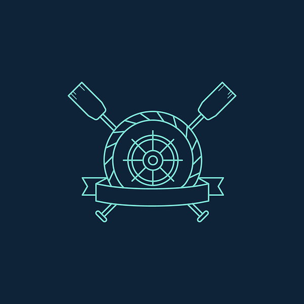 ship wheel and paddle