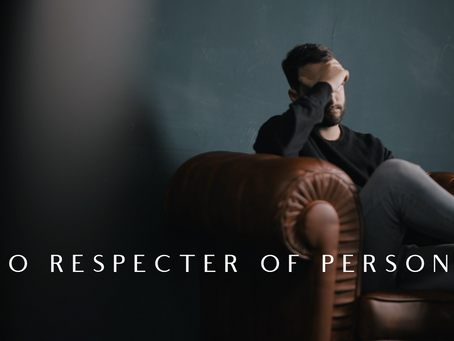 "Christian, Mental Health Matters - Part 3 ""No Respecter of Persons"""