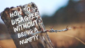 How to Disagree Without Being a Numpty