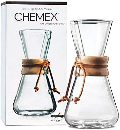 Cafetière Filtre Manuelle 1 à 3 Tasses CHEMEX