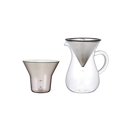 Set carafe à café 300ml en acier inoxydable Kinto Japan