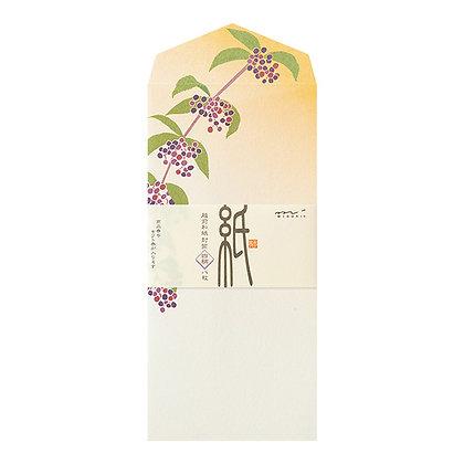 Enveloppes MIDORI ,fleurs d'automne
