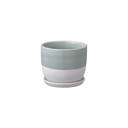 Plant Pot 193_110mm bleu gris Kinto Japan