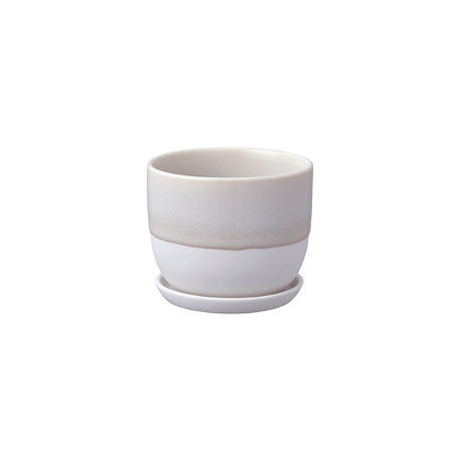 Plant Pot 193_110mm beige Kinto Japan