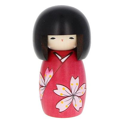 "Kokeshi "" fleurs de cerisier"" 13cm"
