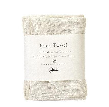 Serviette pour le visage 100% coton Bio Ivoire Face Towel NAWRAP