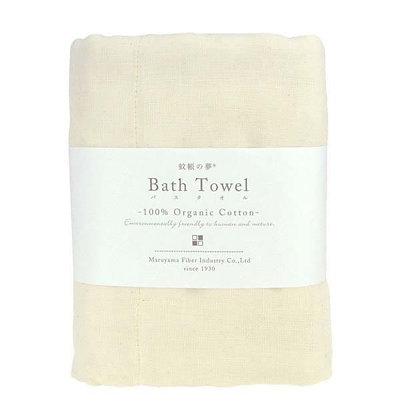 Serviette de bain ivoire 100% coton bio Bath towel NAWRAP